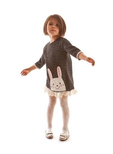 Mushi Tavşan Dantelli Elbise Renkli